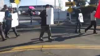 Rev. Harris Leads March In River Park Ferguson Verse Fresno Police Brutality In River Park Pt. 4