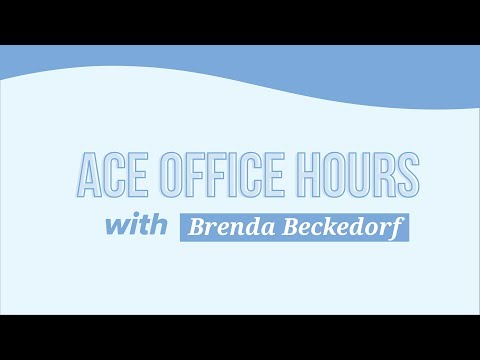 ACE Office Hours Interview with Brenda Beckedorf