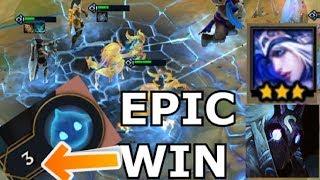 BEST COMEBACK - Teamfight Tactics LOSING to WIN GLACIAL + PHANTOM Ranger Comp Build TFT lol