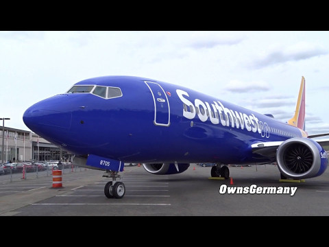 Walkaround the 1st Southwest Airlines Boeing 737 MAX