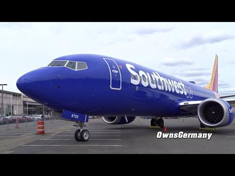 Walkaround the 1st Southwest Airlines Boeing 737 MAX