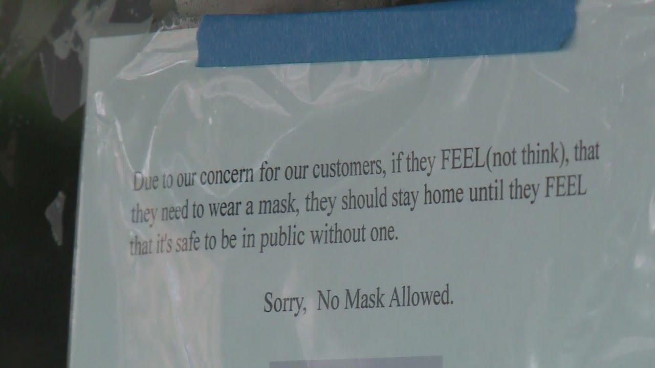Elgin bar owner bans customers from wearing masks inside