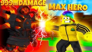 I BATTLED the STRONGEST SUPER VILLAIN  with MAX POWER (Roblox)