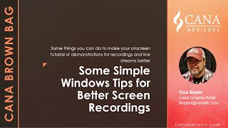 Quick and Simple Windows Screen Capture Recording Tips