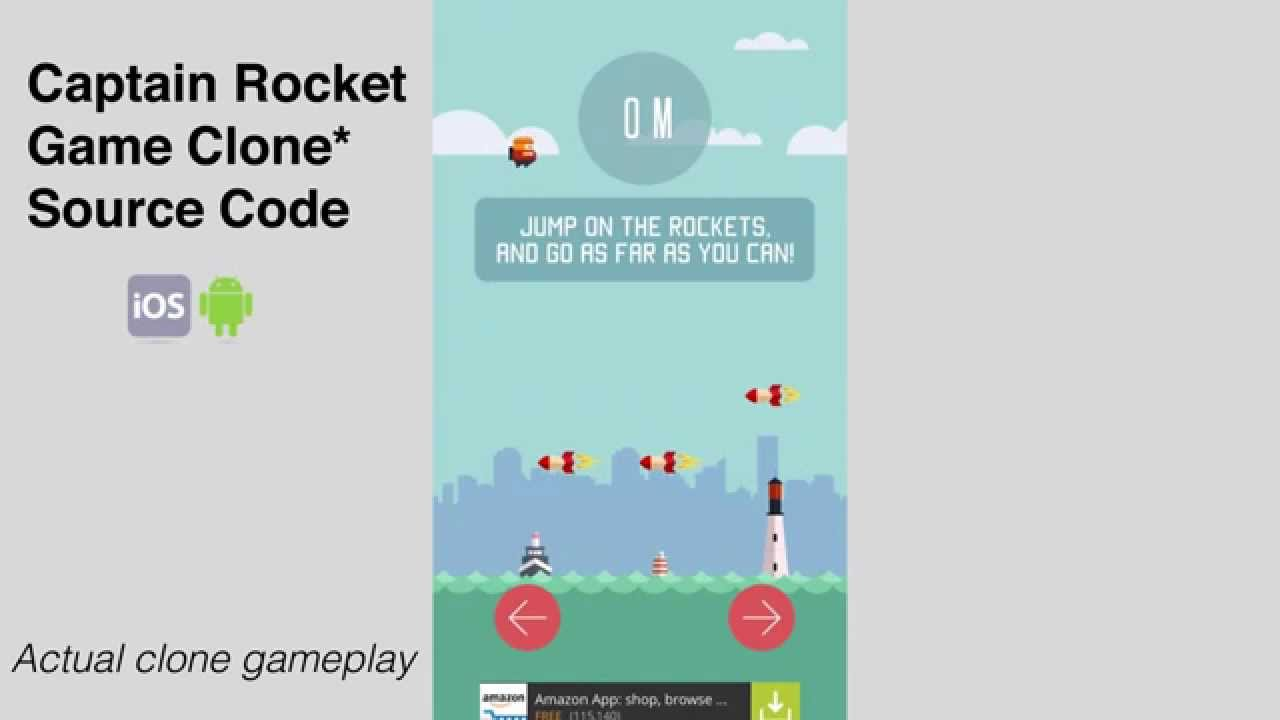Captain Rocket source code ios android clone iphone gameplay