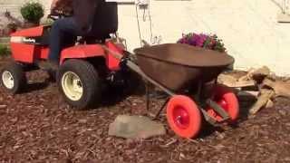 Tractor Wheelbarrow Hitch Invention