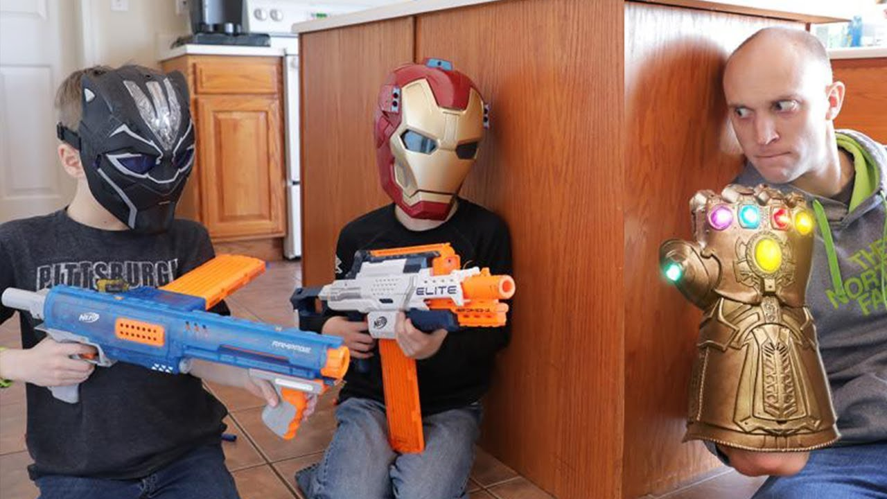 Nerf War:  Avengers Infinity War (Spoilers)