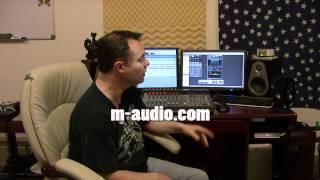 Studio setup with M-Audio ProjectMix I/O, Octane 8 preamp and Pro Tools 10