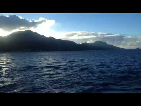 Time lapse - Sailing into St. Kitts as the sun comes up
