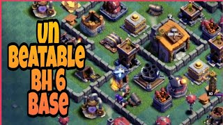 Best Bh6 base ever | Anti-Ground builder hall 6 base | clash of clans
