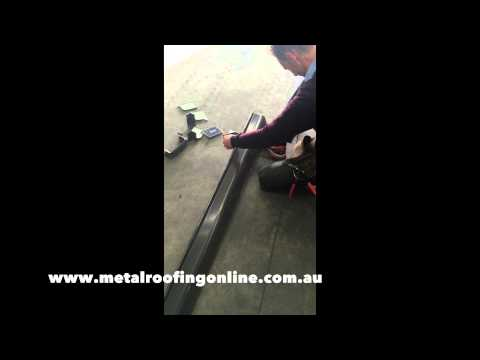 How to cut COLORBOND® quad guttering