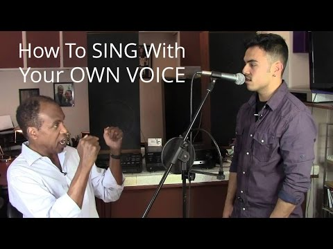 How To Sing With Your Own Voice – Roger Burnley Voice Studio – Singing Vocal Lesson
