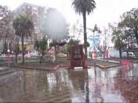 Nieve En La Plaza De San Miguel Buenos Aires Argentina