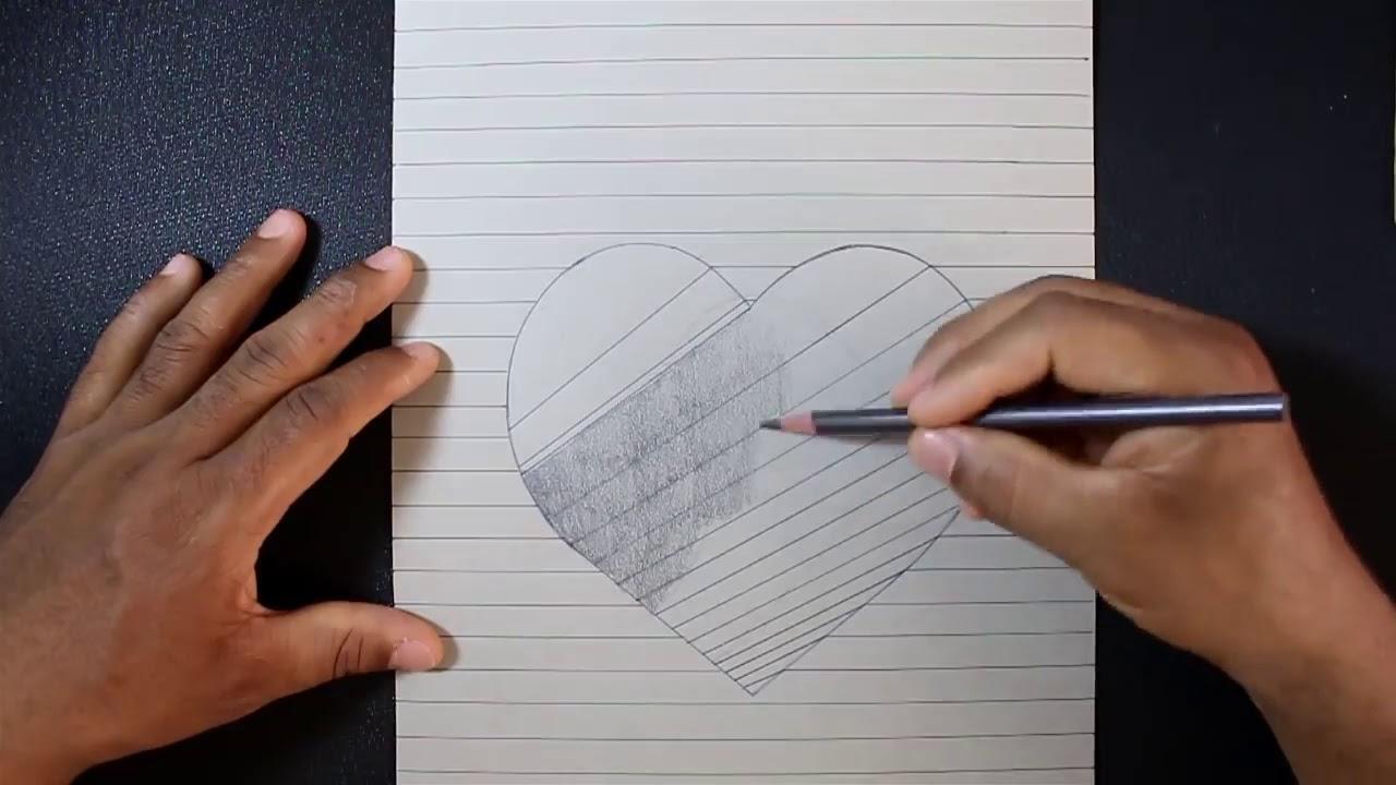 làm cách nào để vẽ hình trái tim lỗ 3D