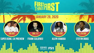 Super Bowl, Frank Caliendo, Alvin Kamara, Stefon Diggs (01.28.20) | FIRST THINGS FIRST Audio Podcast