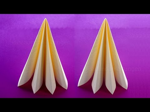 Napkin Folding: 10 Ways Christmas Tree - YouTube | 360x480