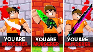 MURDERER EVERY TIME in Roblox Murder Mystery 2!!