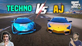 GTA 5 : TECHNO GAMERZ LAMBORGHINI SIAN Vs AJ GAMING GOLD LAMBORGHINI ? 😍