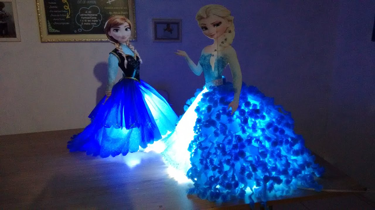Diy centro de mesa lumin ria frozen frozen table lamp centerpiece parte 1 base youtube - Centros de mesa de frozen ...