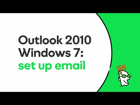 GoDaddy Office 365 Email Setup in Outlook 2010 (Windows 7 ...