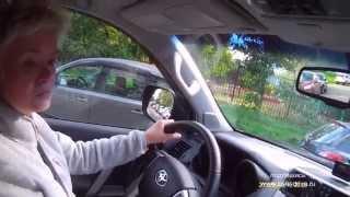 Вождение Урок №3 часть 3 перпендикулярная парковка Тойота Land Cruiser Prado.