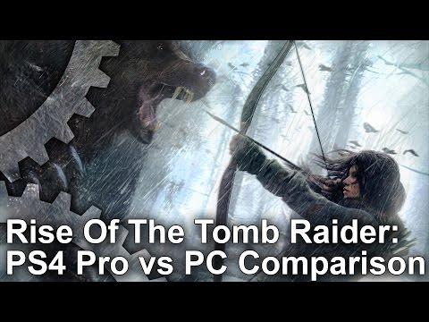 Rise of the Tomb Raider PS4 Pro vs PC 4K Graphics Comparison