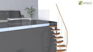 """Vidéo: Escalier modulaire Deluxe """"Edition blanc"""""""