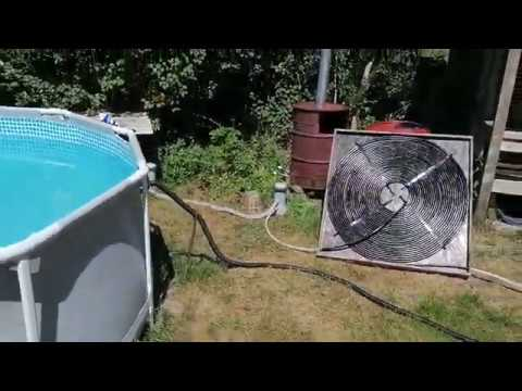 20 bucks DIY Solar Pool Heater WORKS!