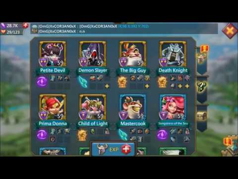 Lords Mobile: Battle Skills (Squad ATK, Logistics, Administration, Tactics)
