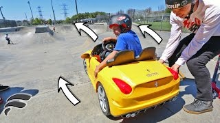 CRAZY KID WRECKS TOY FERRARI CAR