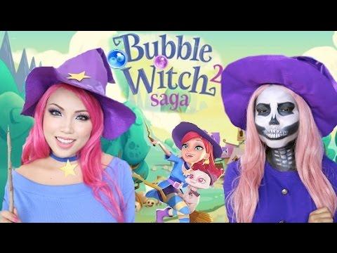 Witch vs Skeleton Halloween Makeup Tutorial !!!
