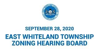 9 28 20 East Whiteland Township Zoning Hearing Board