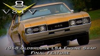 1968 Oldsmobile Cutlass Supercharged 6.2 LSA Engine Install Swap Video Part 6 V8TV