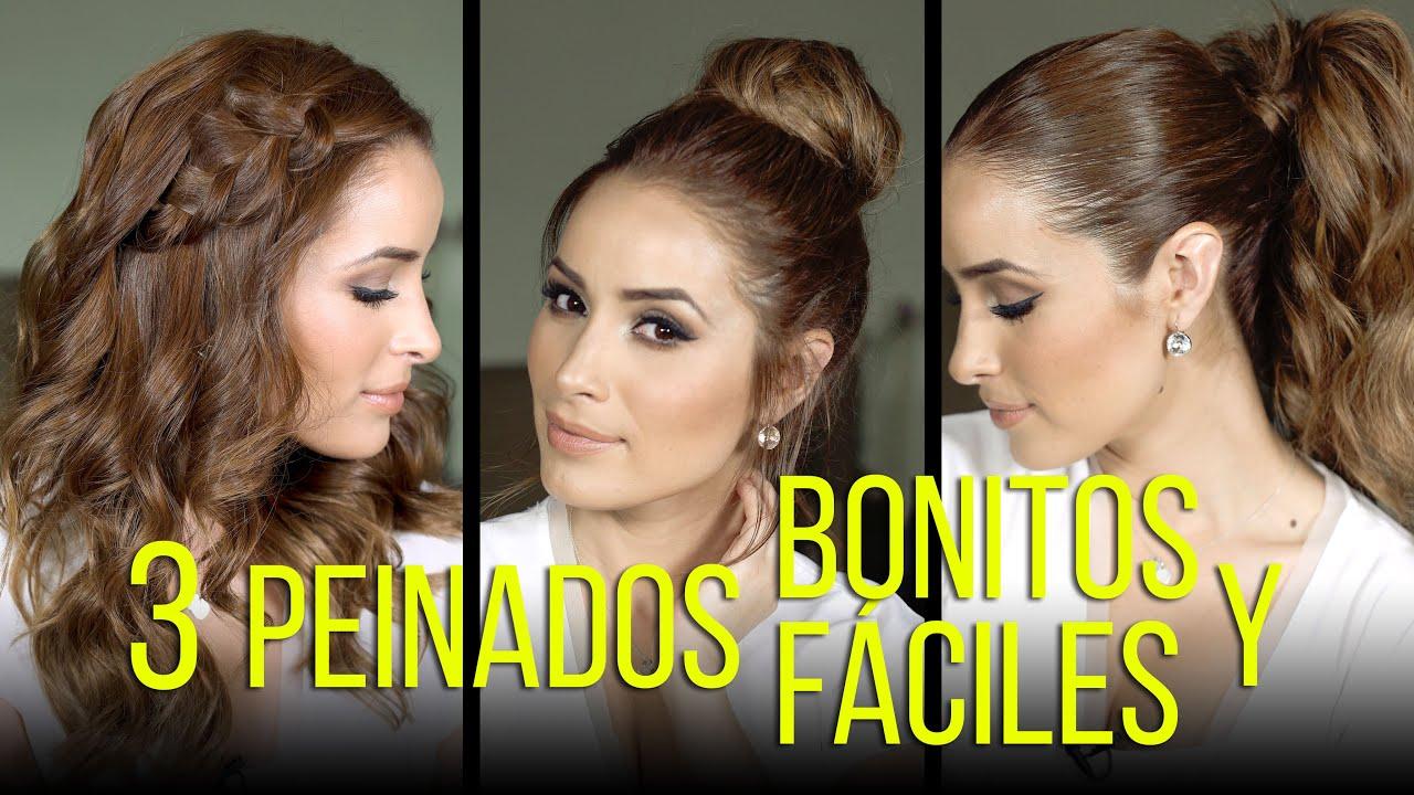 3 peinados bonitos y f ciles youtube - Peinados faciles y bonitos ...