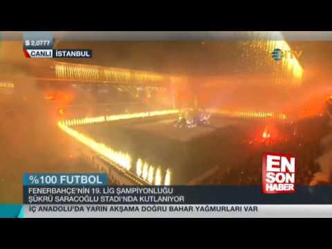 Fenerbahçe'nin şampiyonluk kutlaması
