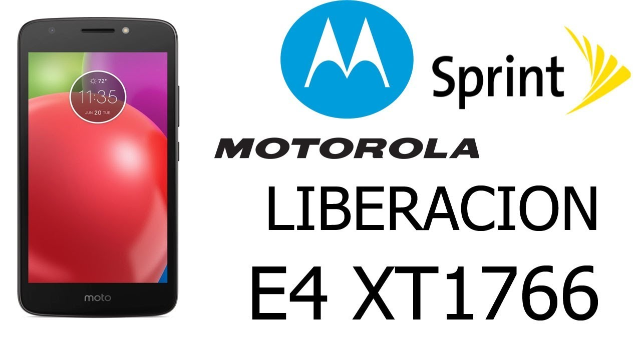 Motorola e4 xt1766 Sprint Liberacion