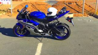 yamaha  r6 2016 first bike starting on a 600cc