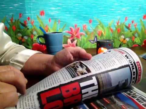 The Globe Magazine, Tabloid, Soft Spoken Read, Headlines, Ads, Chewing Gum, Soft Feather Pen, ASMR