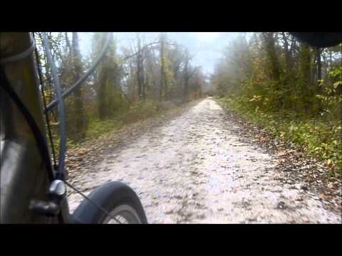 Cycling the KATY trail across Missouri, October 2014
