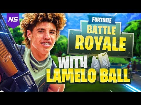 PLAYING FORTNITE WITH LAMELO BALL!