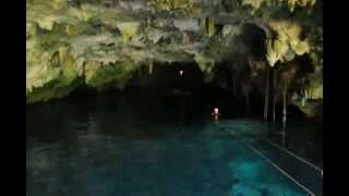 Ziplining into a Cave in Riviera Maya, Mexico