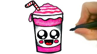 HOW TO DRAW A CUTE MILK SHAKE EASY