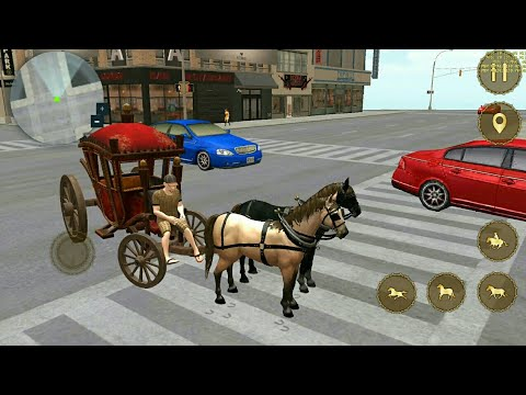 Horse Taxi City Transport   Horse Riding Game