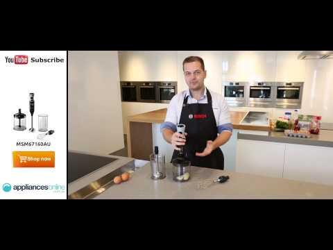 The powerful MSM67160AU Bosch ErgoMixx Stick Blender demonstrated by expert...