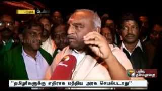 Interview with Minister Pon.Radhakrishnan on putting an end for farmers fasting at Delhi