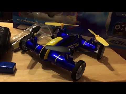 Syma X9 Flycar Drone Car Drive Flight Test Review