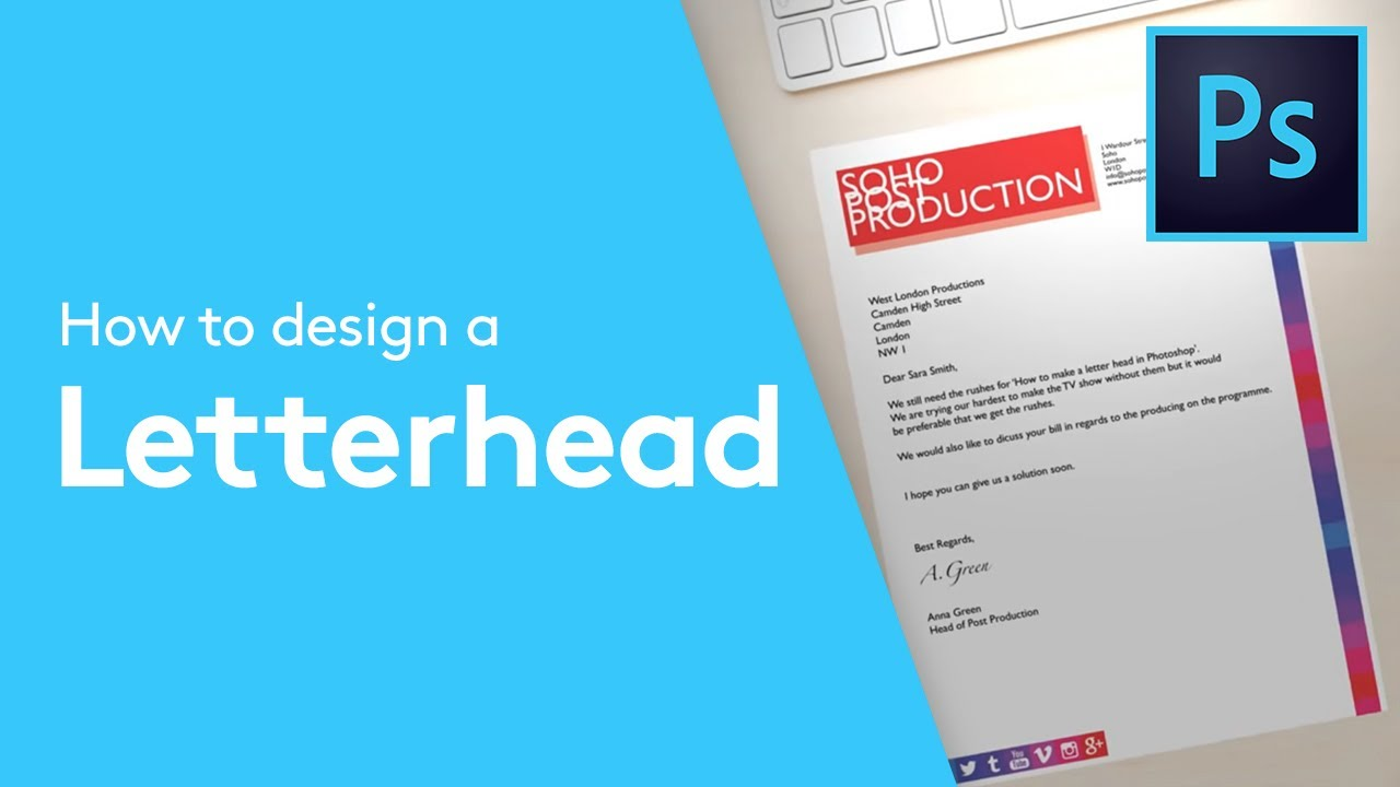 how to design a letterhead in adobe photoshop solopress tutorial