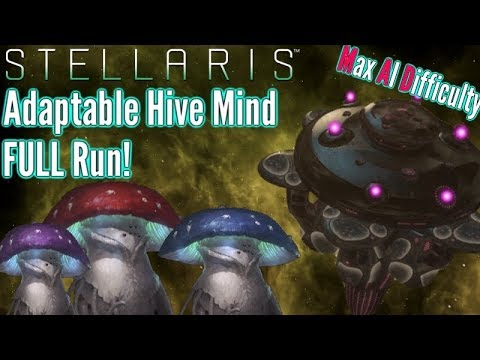 Stellaris | Adaptive Hive Mind FULL Playthrough | Max AI Difficulty!