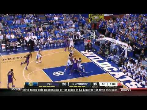 02/22/2014 LSU vs Kentucky Men's Basketball Highlights