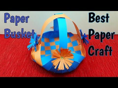 DIY | Paper Weaving Basket | How to Make a Paper Basket at Home